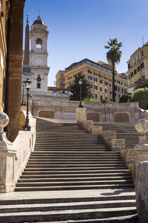 monti: the famous staircase of Trinity dei Monti in Rome