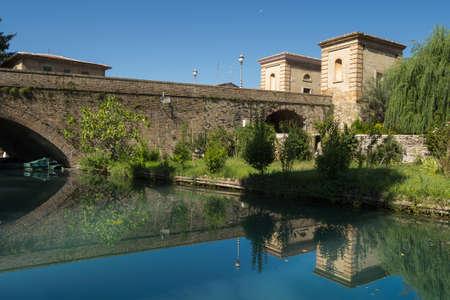 bevagna: Ancient Bridge of Bevagna, Italy