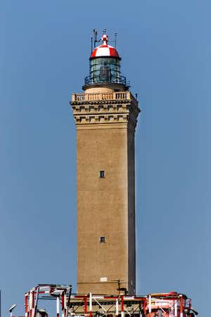 genoa:  lighthouse of Genoa Stock Photo