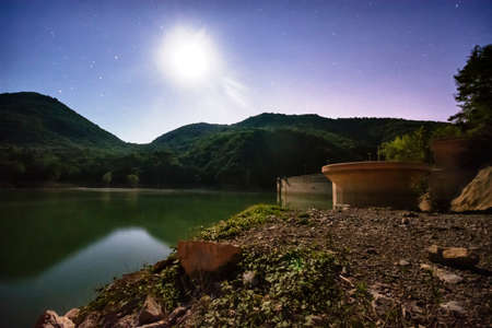 moonlit: Lake Valnoci moonlit