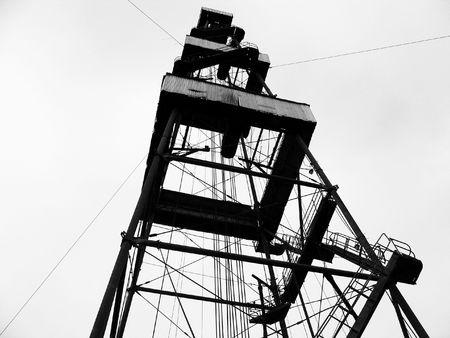 spiraglio: Cesello per l'installazione di perforazione di pozzi di petrolio  Archivio Fotografico