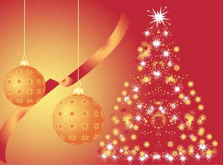 Christmas tree. Vector Stock Vector - 5860580