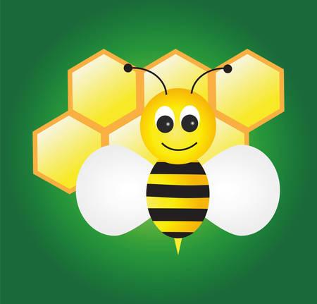honeyed: Bee. Vector- easy to edit