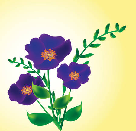 flowered: bouquet. vector - easy to edit Illustration