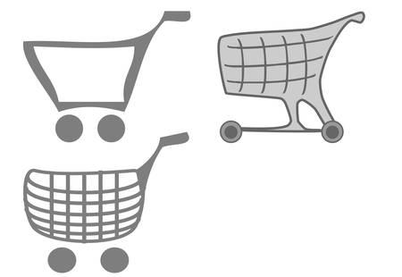 Shopping cart. Vector - easy to edit Stock Vector - 5973555