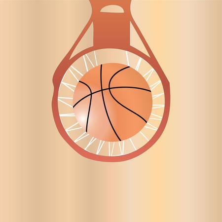 rebound: basketball.   Illustration