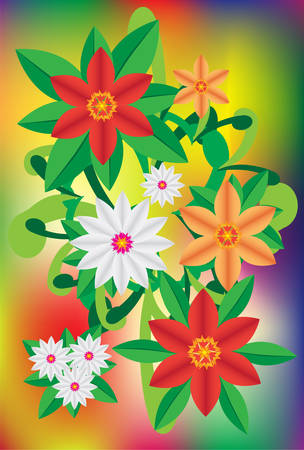 bright flower. easy to edit Vector