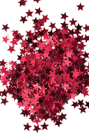 christmas ornamentation: Red stars on white background