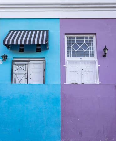 Brightly coloured green mosque in the historic neighborhood of Bo-Kaap, Cape Town, South Africa Imagens