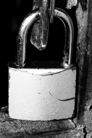 High contrast Black and white macro photography texture backgrounds, security lock