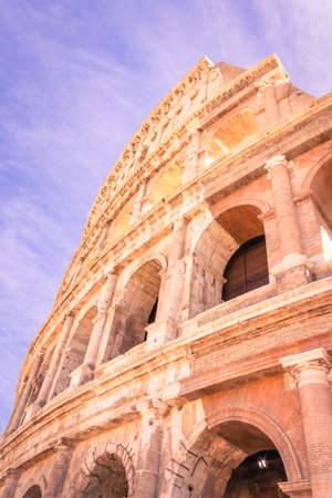 Colosseum Amphitheater in Rome, Rome, Italy, Europe