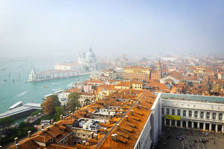 Venice from above, St. Mark's square (San Marco) is the tourist heart of Venice with iconic sights of St. Mark's basilica,  Venice, Italy, Europe Reklamní fotografie