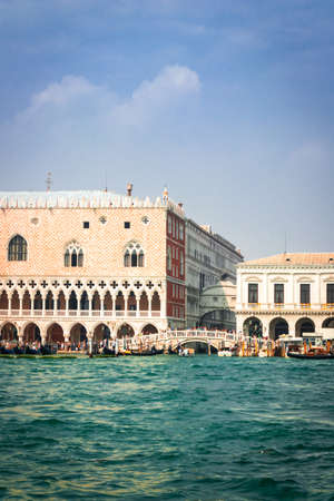 St. Mark's square (San Marco) is the tourist heart of Venice with iconic sights of St. Mark's basilica, campanile (cathedral tower) and Doge's Palace, Venice, Italy, Europe Reklamní fotografie