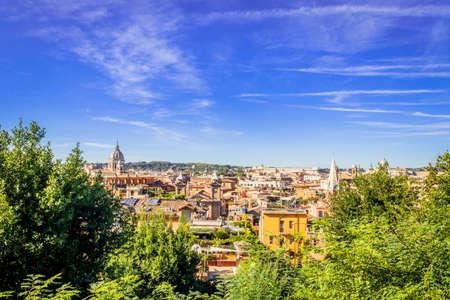 View of Rome City with St. Peter's Square in the Vatican City, Rome, Italy, Europe