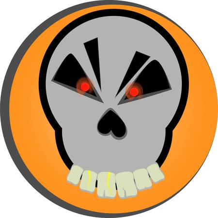 red eyes: cartoon skull vector red eyes