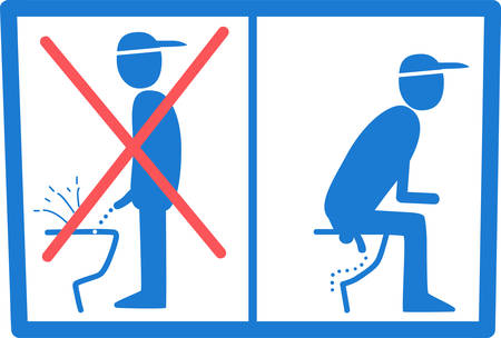 sign in man toile do not piss