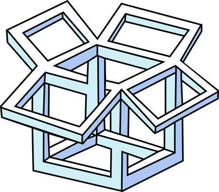 abstract vector puzzel Stock Illustratie