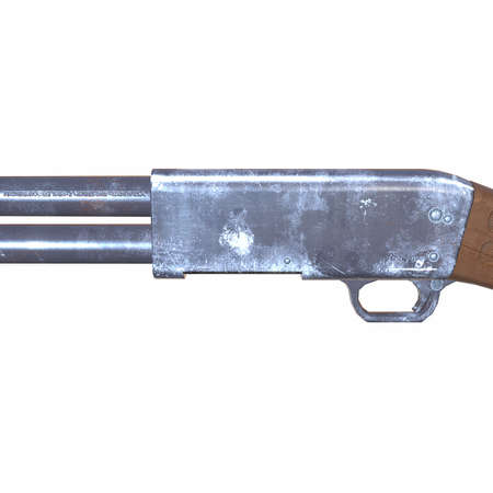 3d  illustration: old ithaca shotguns 3d illustration Stock Photo