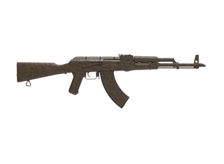 assault: assault rifle 3d illustration