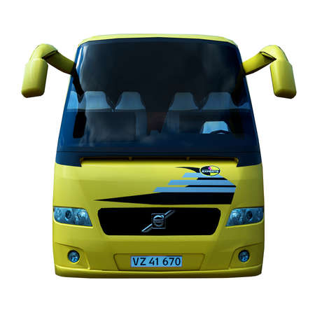 3D illustration of the bus.