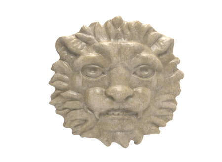 3d lion: 3d illustration of lion head.