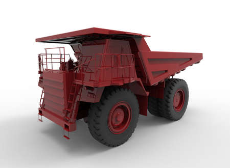 3d illustration of mine vehicle machine, on white background isolated with shadow. Stock Photo