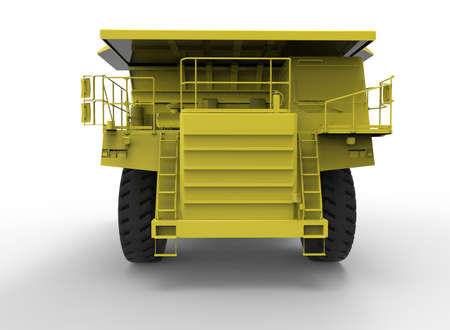 dumper: 3d illustration of mine vehicle machine, on white background isolated with shadow. Stock Photo