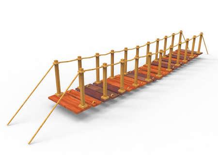 rope bridge: 3d illustration of bridge.