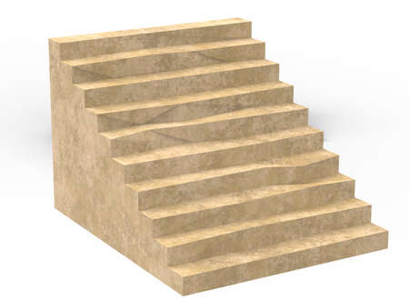 3d illustration of simple stairs. Stock Photo