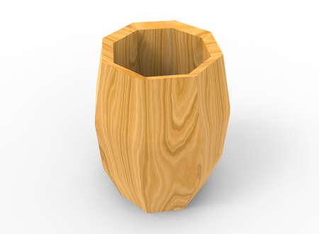 distillery: 3d illustration of wooden barrel.