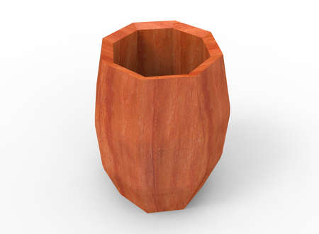wooden barrel: 3d illustration of wooden barrel.