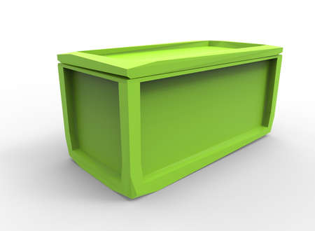 crate: 3d illustration of crate.