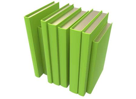 lexicon: 3d illustration of books.