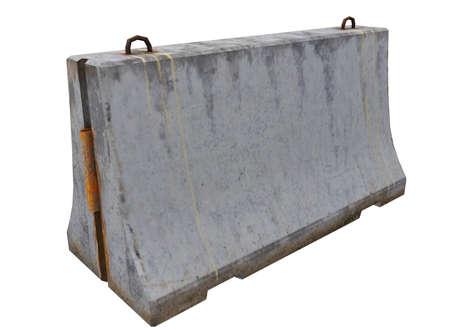 3d illustration of simple concrete barrier.