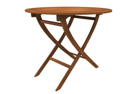 illustrazione 3D di tavola rotonda. Archivio Fotografico