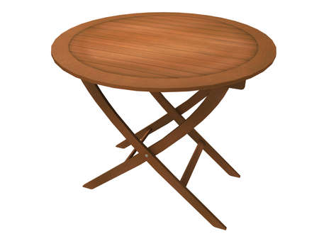 round table: 3d illustration of round table. Stock Photo