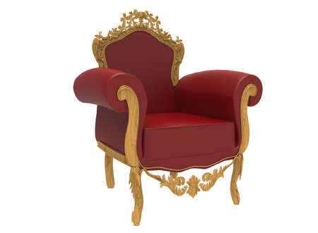 luxurious: 3d illustration of luxurious classic chair. Stock Photo