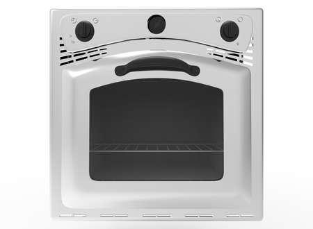 hob: 3d illustration of oven. Stock Photo