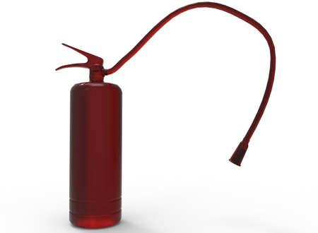 extinguishers: 3d illustration of fire extinguisher. Stock Photo