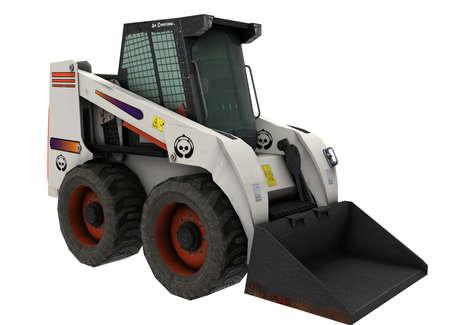 3d illustration of bobcat excavator.