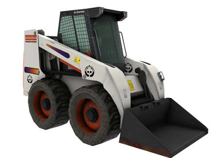 3d illustration of bobcat excavator.