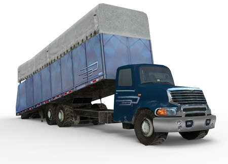 oversize: 3d illustration of cotton module truck.