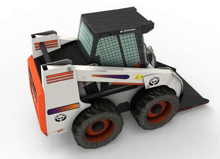 skid loader: 3d illustration of bobcat excavator.