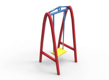 lawn chair: 3d illustration of children swings.