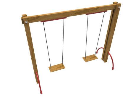 lawn chair: 3d illustration of children swing.
