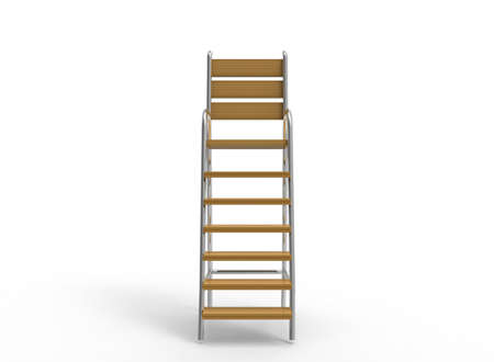the attribute: 3d illustration of umpire chair. white background isolated. wood and steel. icon for game web. sport attribute.