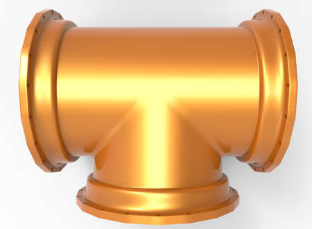 3d illustration of pipe. white background isolated. icon for game web.
