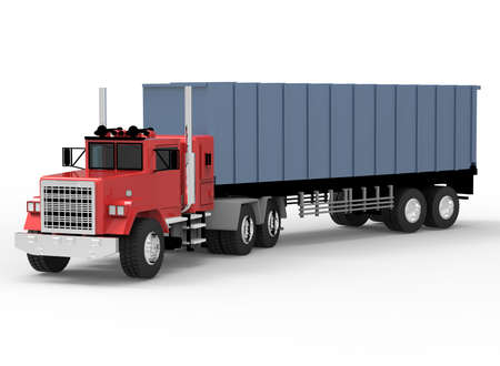 big truck: 3d illustration of big truck. white background isolated. icon for game web.