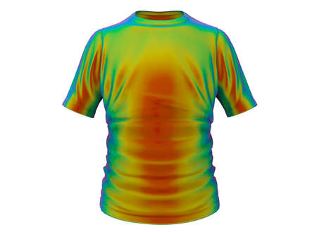 3d illustration of T-shirt. isolated on white background