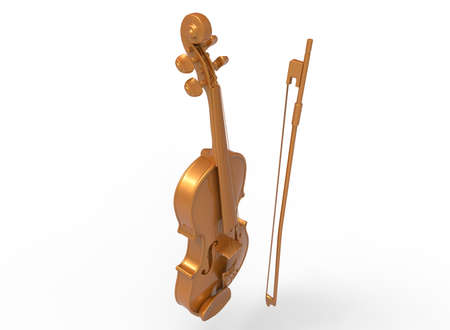 acoustics: 3d illustration of cello. isolated on white background